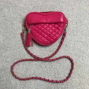💕 Heart-Shaped Chain Strap Crossbody Bag 💖